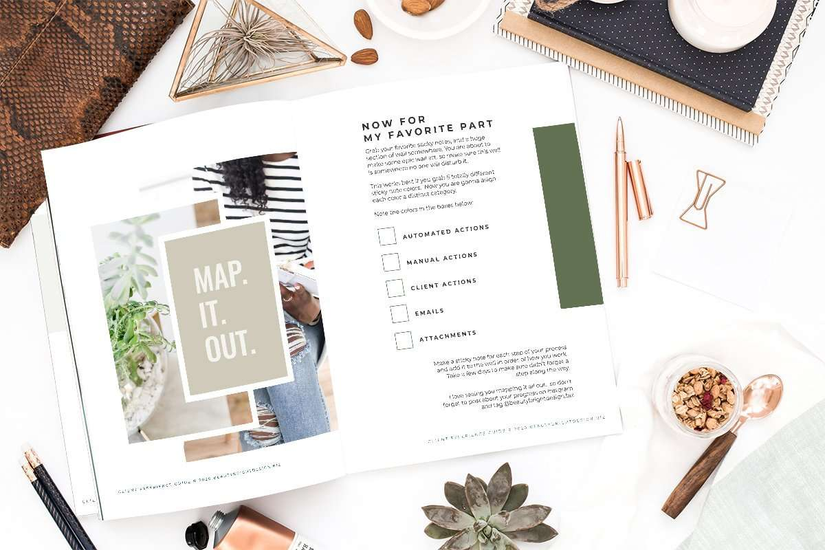 Map out your client experience guide from your biz besties Molly at Beauty Bright Design